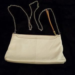 Hobo crossbody bag with chain strap
